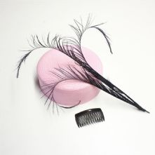 Black Faux Lyre Bird Feather Hat and Millinery Trim